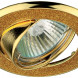 """DK18 GD/SH YL Светильник ЭРА декор """"круглый  со стеклянной крошкой"""" MR16,12V/220V, 50W, золото/золотой блеск (100/1800)"""