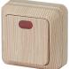 2-102-11 Intro Выключатель с подсветкой, 10А-250В, IP20, ОУ, Quadro, сосна (10/200/3600)