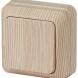 2-101-11 Intro Выключатель, 10А-250В, IP20, ОУ, Quadro, сосна (10/200/3600)