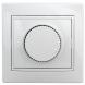 1-401-01 Intro Светорегулятор поворотный, 600Вт 230В, IP20, СУ, Plano, белый (10/200/2000)
