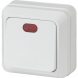 2-102-01 Intro Выключатель с подсветкой, 10А-250В, IP20, ОУ, Quadro, белый (10/200/3600)