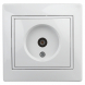 Розетка Intro Plano 1-301-01 TV одиночная, IP20, СУ, белый