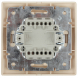 1-104-02 Intro Выключатель двойной, 10А-250В, IP20, СУ, Plano, сл.кость (10/200/2400)
