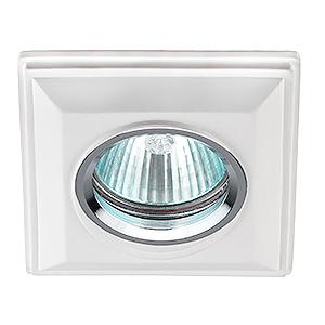 DK G1 Светильник ЭРА декор гипс под покраску MR16,12V/220V, 50W, квадратный ,белый (24/288)