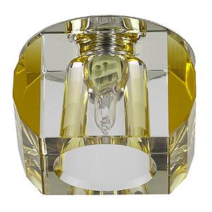 DK21 CH/WH/YL Светильник ЭРА декор «усеченный куб» MR16,12V/220V, 50W, хром/прозрачный/желтый (30/5