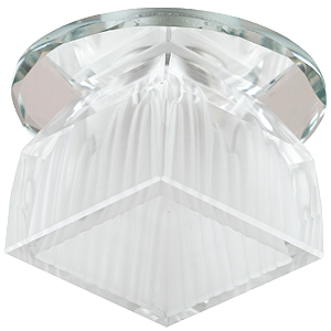 DK48 SL/WH Светильник ЭРА декор «лотос» G9,220V, 40W, зеркальный/белый (45/1080)