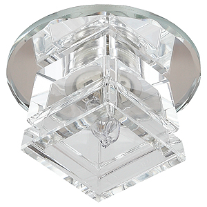 DK48A SL/WH Светильник ЭРА декор «лотос» G9,220V, 40W, зеркальный/прозрачный (45/1080)