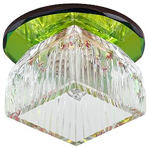 DK48 SL/MIX Светильник ЭРА декор «лотос» G9,220V, 40W, зеркальный/мультиколор (45/1080)