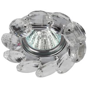 DK10 CH/WH Светильник ЭРА декор «круглый с крупными хрусталиками» хром/прозрачный (30/360)