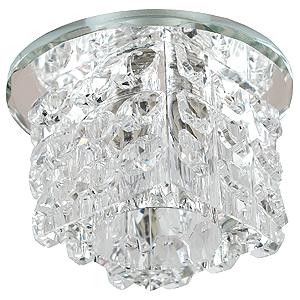 DK50 SL/WH Светильник ЭРА декор «куб с кристалами» G9,220V, 40W, зеркальный/прозрачный (45/1080)