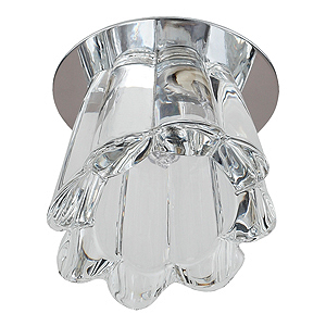 DK46 CH/WH Светильник ЭРА декор «колокол» G9,220V, 40W, хром/прозрачный (3/30/450)