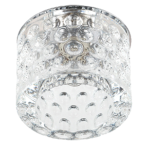 DK41 CH/WH Светильник ЭРА декор «цилиндр. плафон с объемным рисунком» G9,220V, 50W, хром/прозрачный